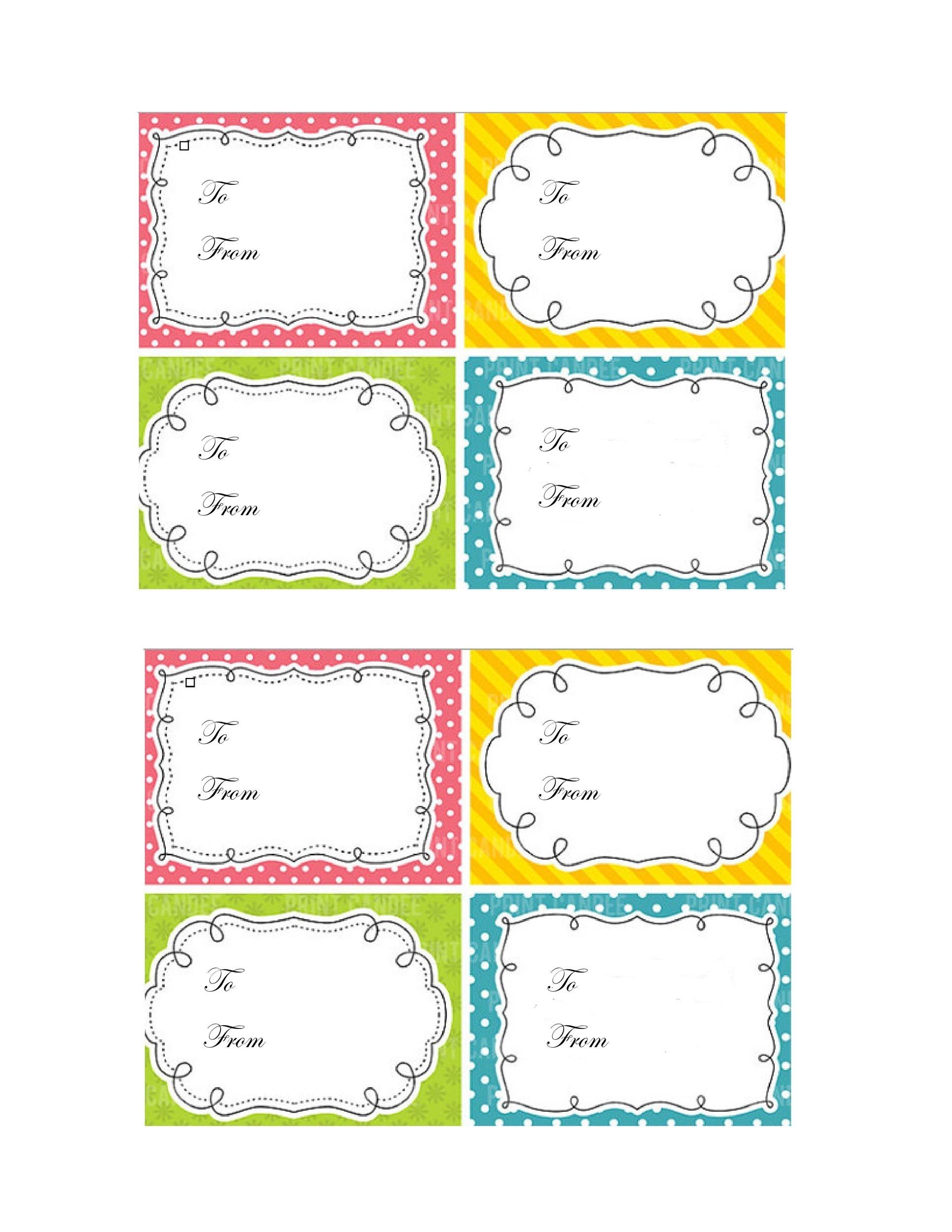 44 Free Printable Gift Tag Templates ᐅ Templatelab