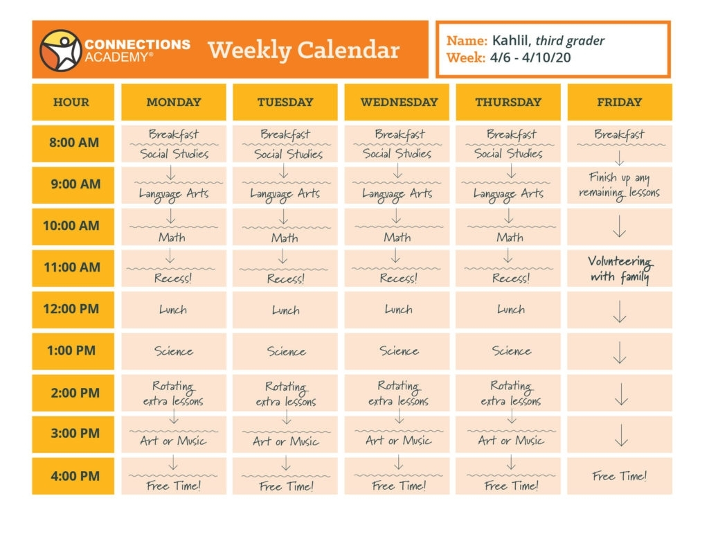 5 Sample Online School Schedules For Families