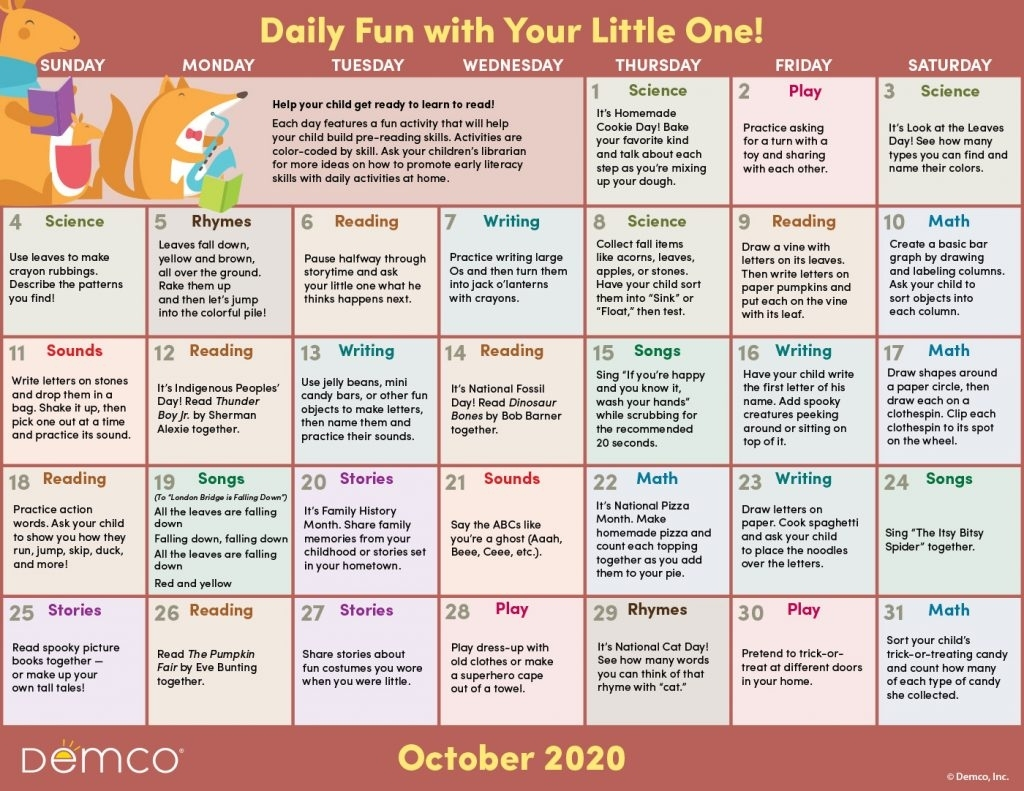 Activity Calendar Archives - Ideas & Inspiration From Demco