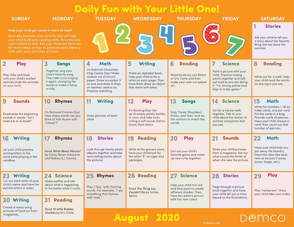 Activity Calendar Archives - Ideas & Inspiration From Demco intended for Special Days In 2020 That Are Not Down On Calender