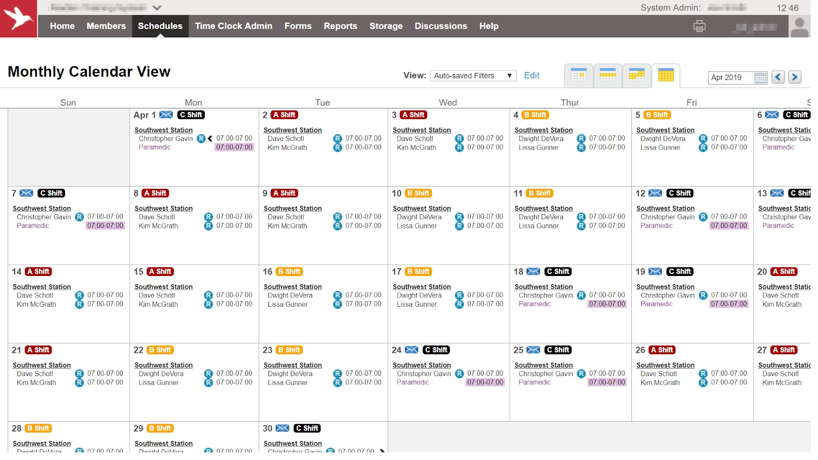 Add Shift Labels To Schedule Days - Aladtec
