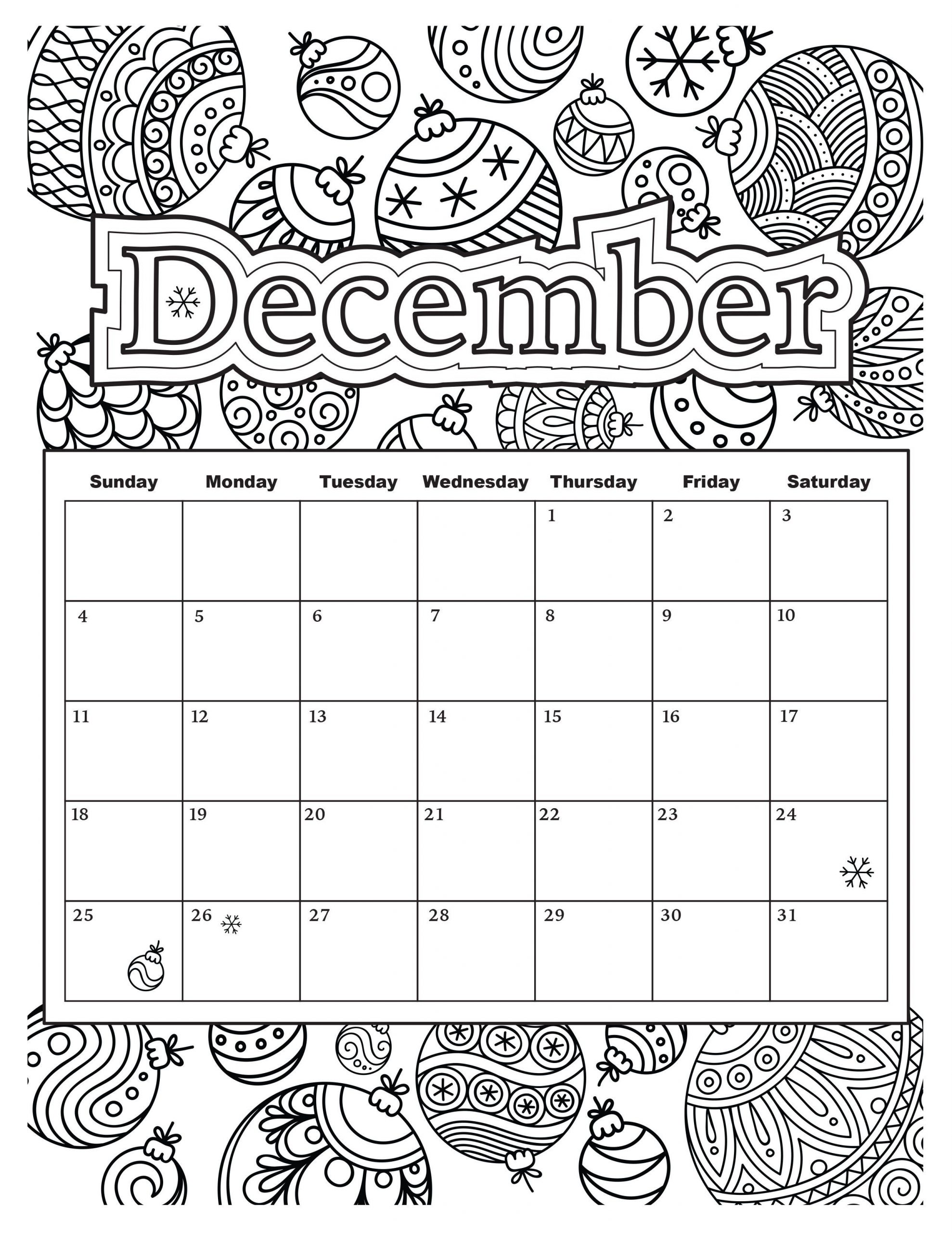 Added Jan. 9: Start Your Year Off Right With This Colorable with 2020 Printable Yearly Colouring Calendar