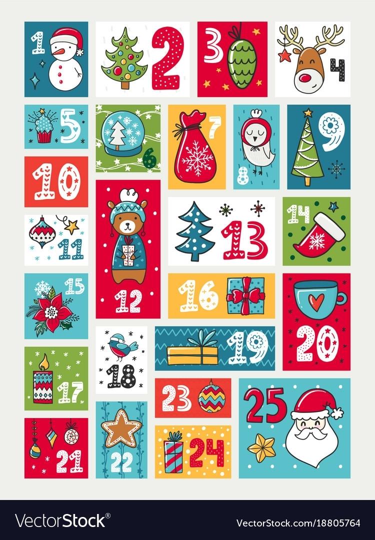 Advent Calendar Royalty Free Vector Image - Vectorstock