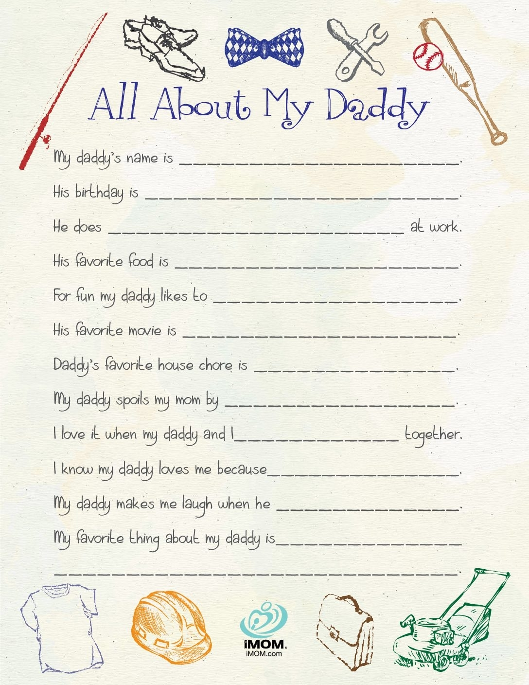 All About My Daddy - Imom