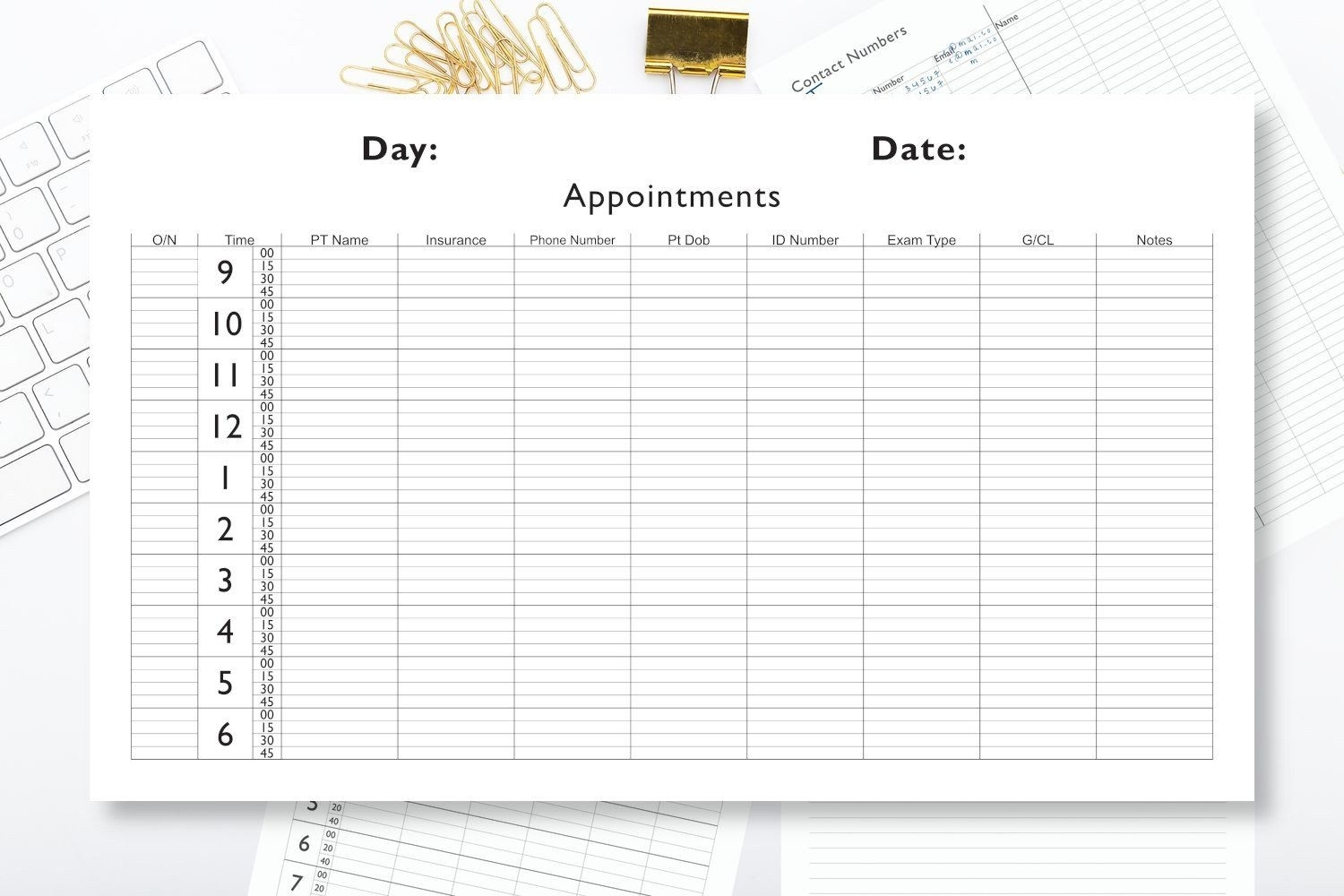 Appointments Book Page 11 X 14 15 Minute Intervals | Etsy In