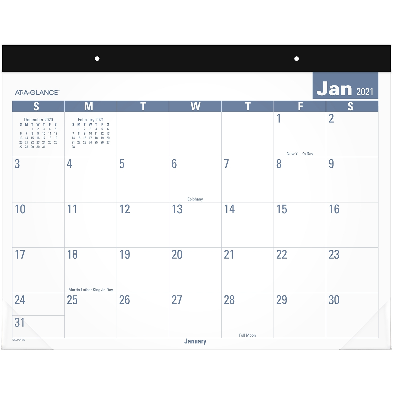 "At-A-Glance 12-Month Easy-To-Read Monthly Desk Pad, 22"" X 17"