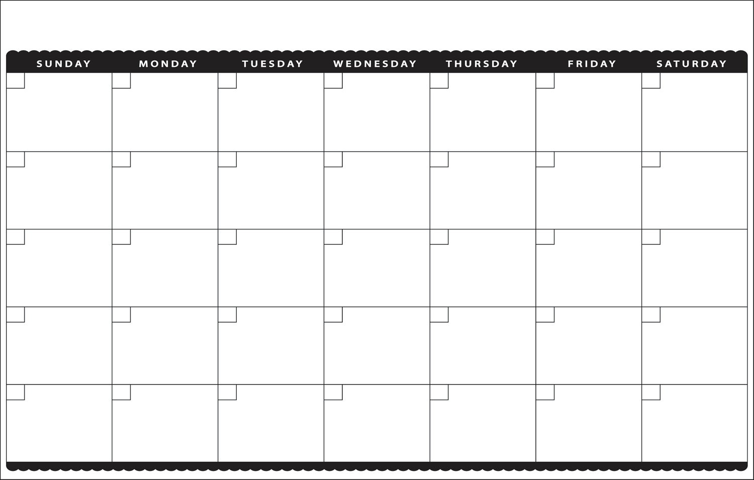 Awesome Month At A Glance Calendar Printable   Free