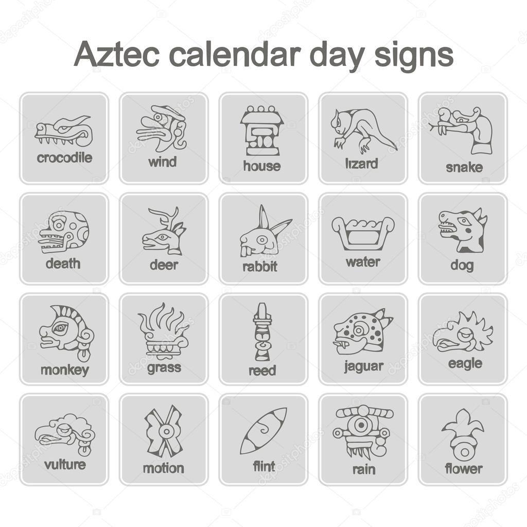 Aztec Calendar Symbols And Meanings In 2020 | Aztec Calendar