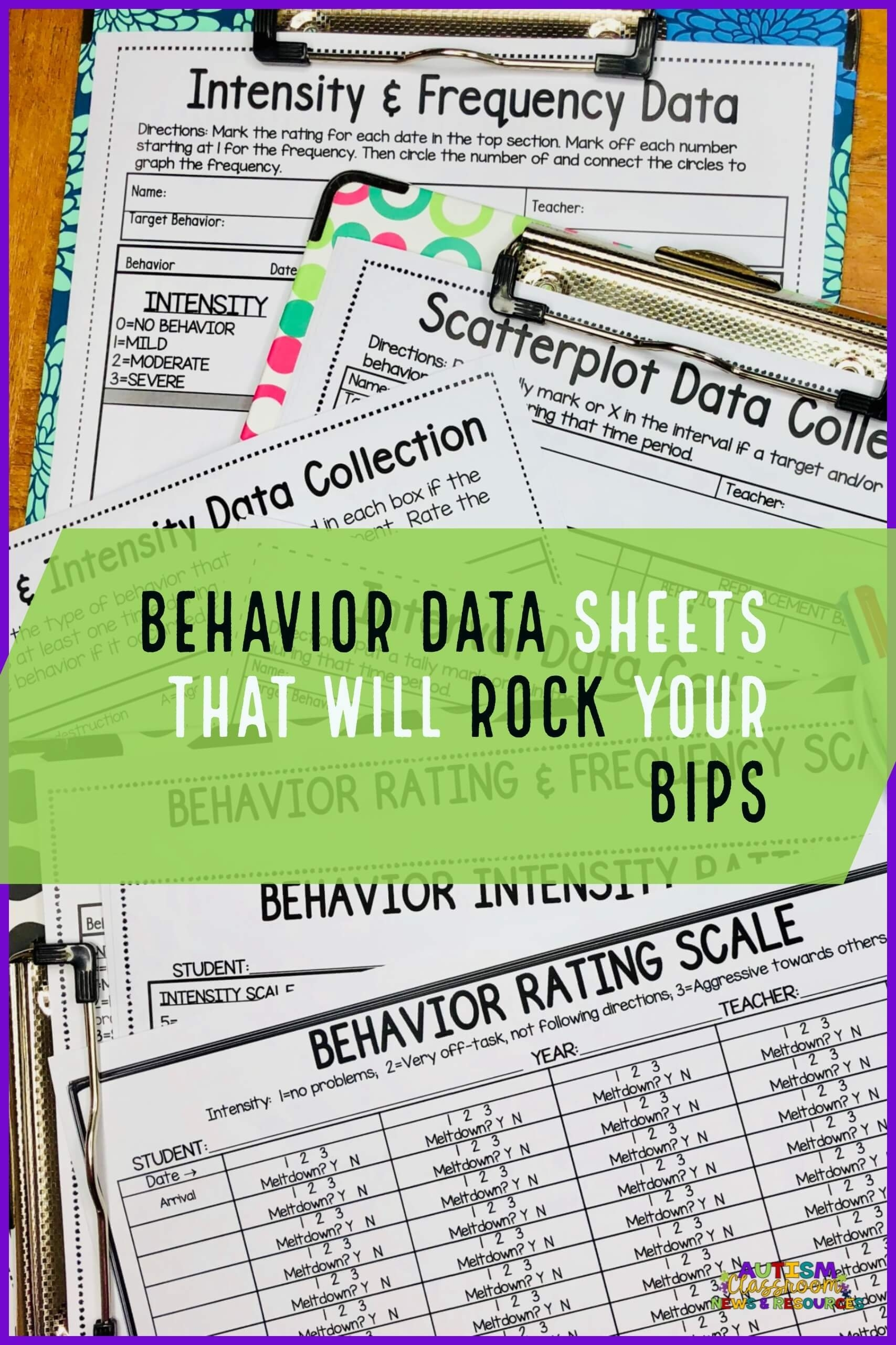 Behavior Data Sheets That Will Rock Your Bips | Autism