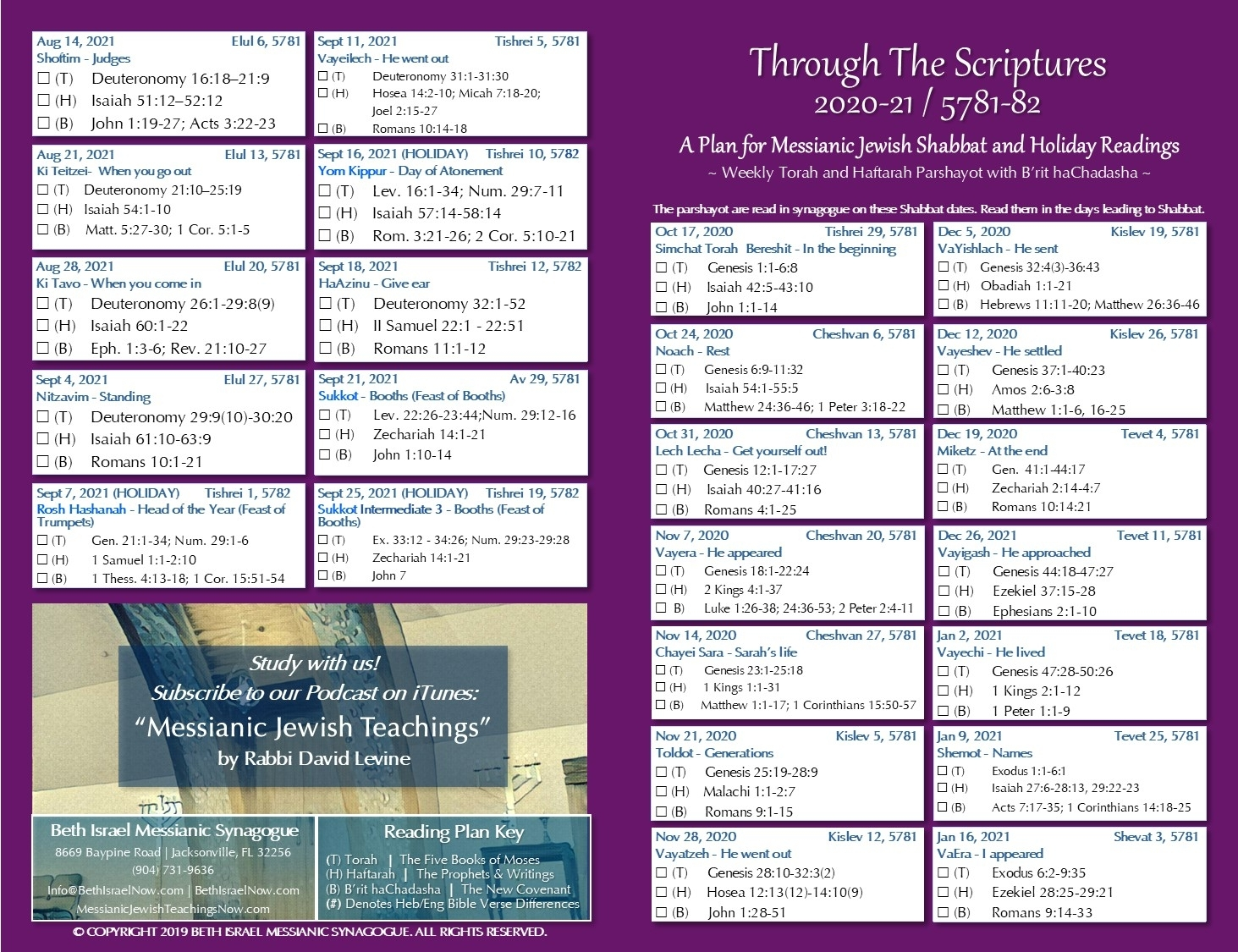Bible Reading Plan | Bethisraelnow