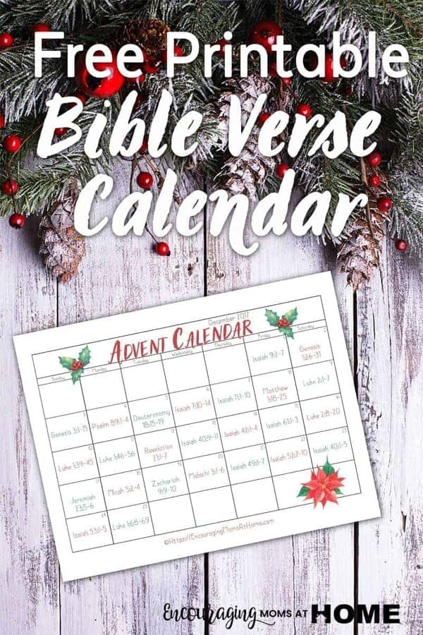 Bible Verse Advent Calendar For December - Read The intended for Verses For Your Advent Calender