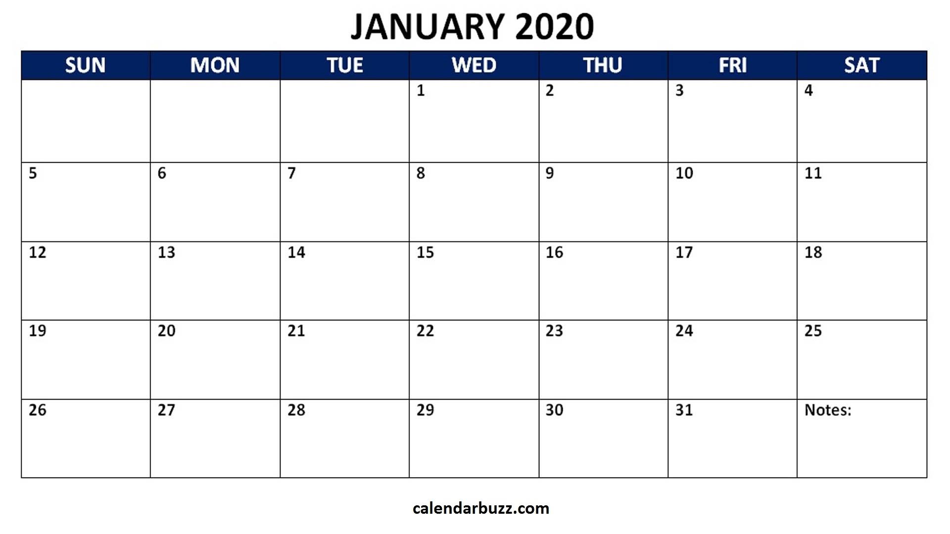 Blank 2020 Calendar Printable Monthly Word Templates intended for Blank Calendar 2020 Printable Monthly