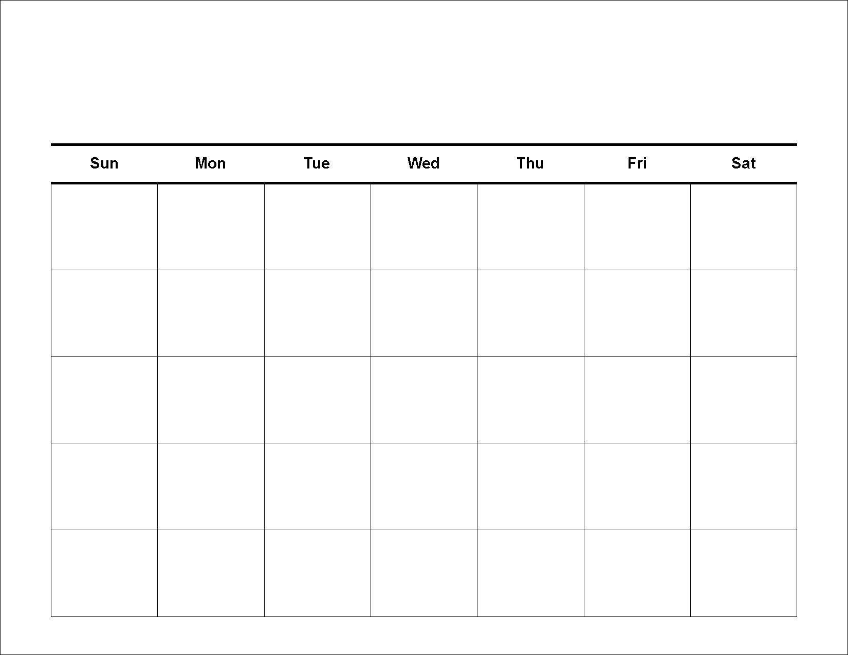 Blank 30 Day Calendar Template | Calendar For Planning