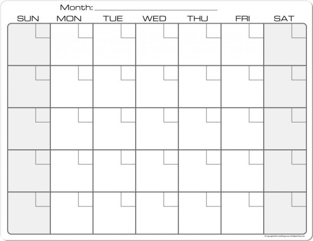 Blank Calendar 8 5 X 11 Printable Calendar 8 5 X 11 intended for 8.5 X 11 Free Printable Calendars