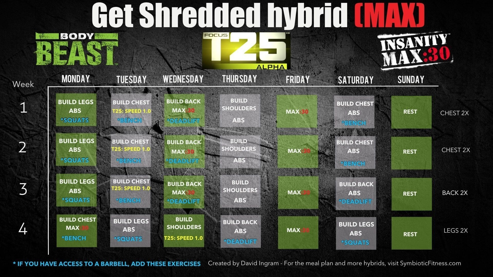 Body Beast P90X Hybrid Worksheets   Printable Worksheets And intended for Calendrier Hybride Insanity Max 30