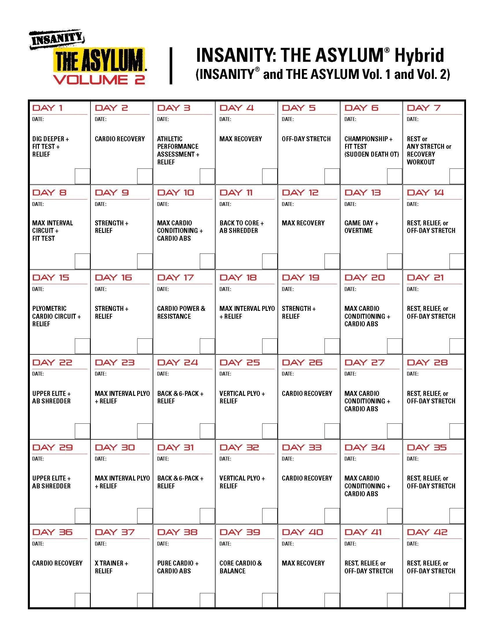 Body Beast P90X Hybrid Worksheets   Printable Worksheets And with regard to Calendrier Hybride Insanity Max 30