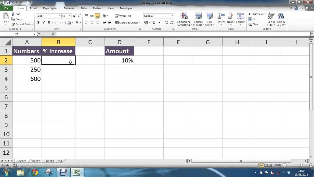 Calculate Percentage Increase In Excel