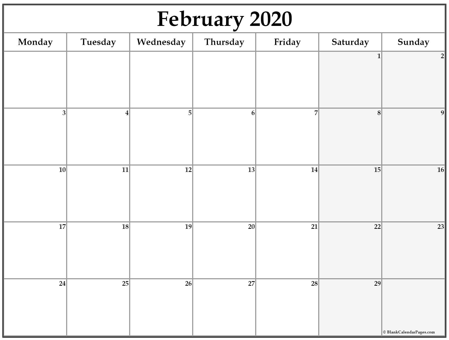 Calendar 2020 Monday - Sunday In 2020 | Calendar Printables in Printable Calendar 2020 Monday To Sunday