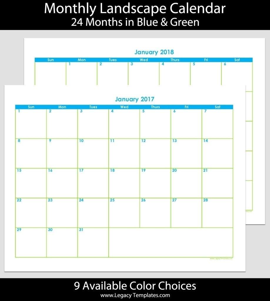 Calendar Template 8.5 X 11 In 2020 | Calendar Template