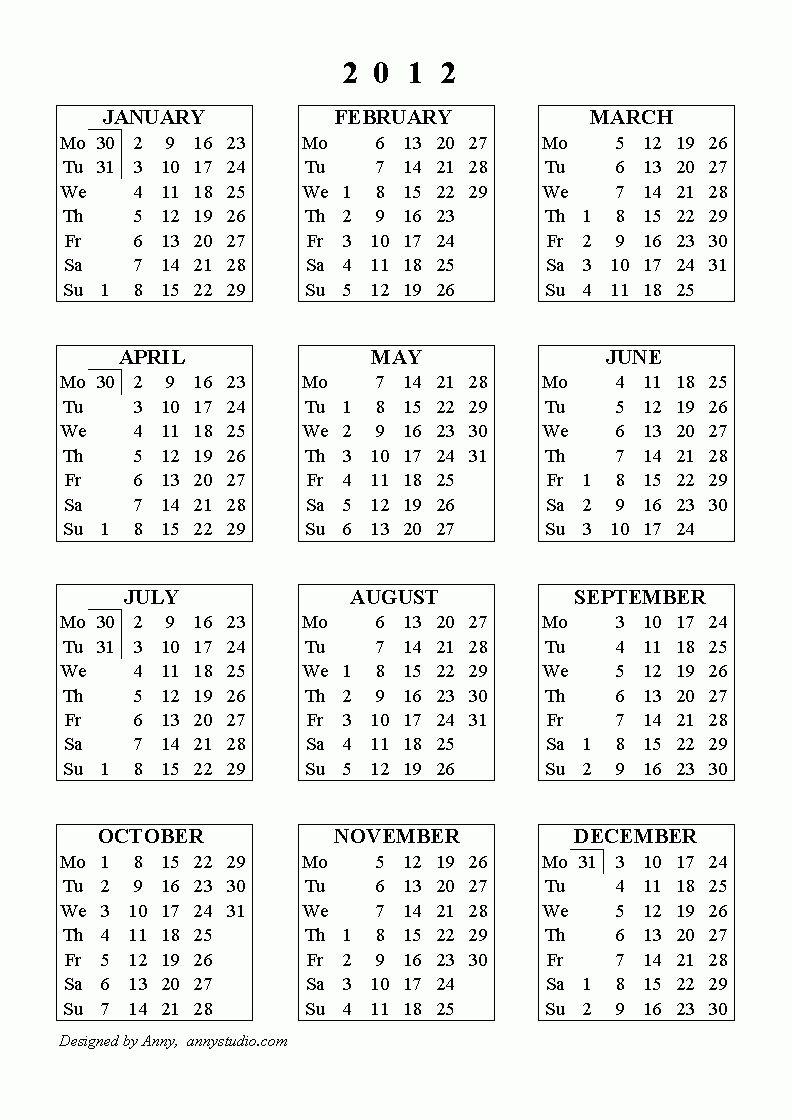 Calendar Week Numbers Financial Year In 2020 | Print