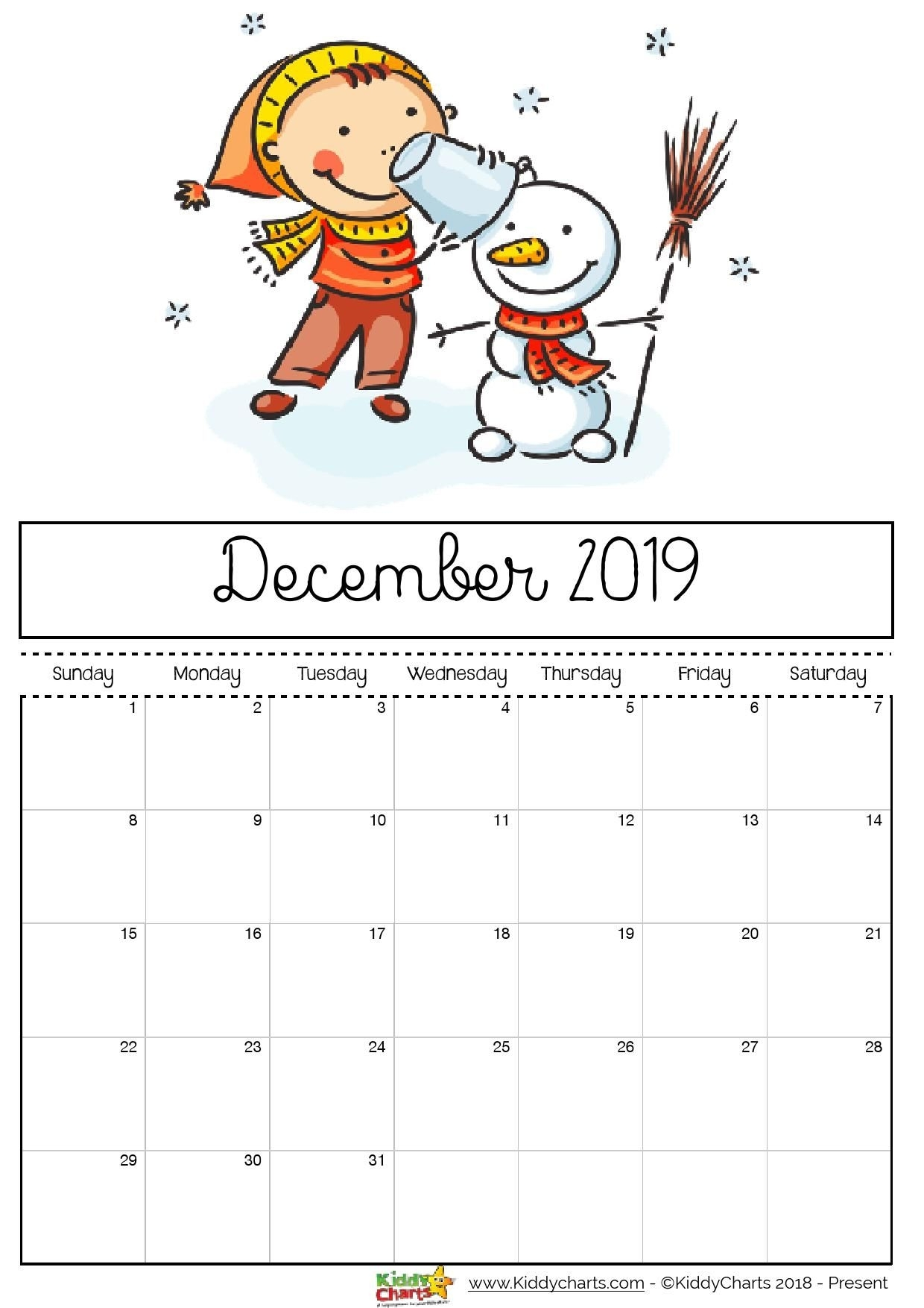 Check Out Our Fantastic Free 2019 Calendar For Your Child'S with regard to Free Kindergarten Calendar Template 2019