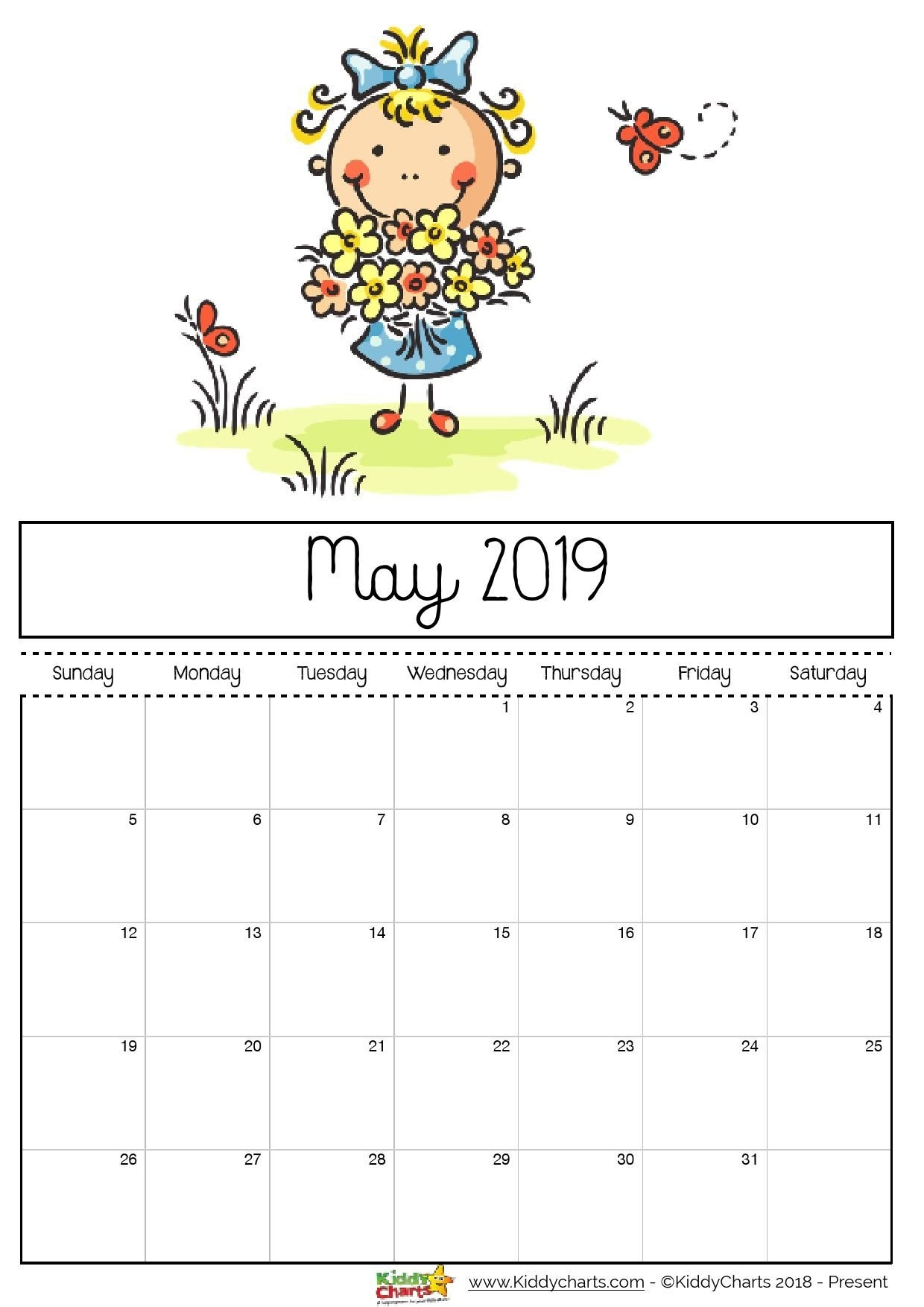 Check Out Our Fantastic Free 2019 Calendar For Your Child'S within Free Kindergarten Calendar Template 2019