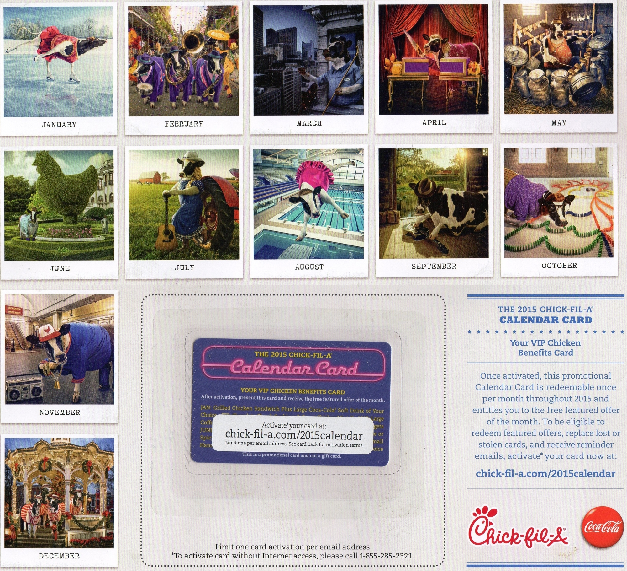 Chick-Fil-A Calendar 2015 Back | Travel With Grant