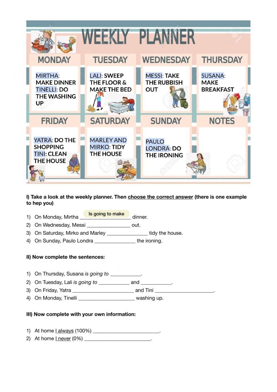 Chored Worksheet