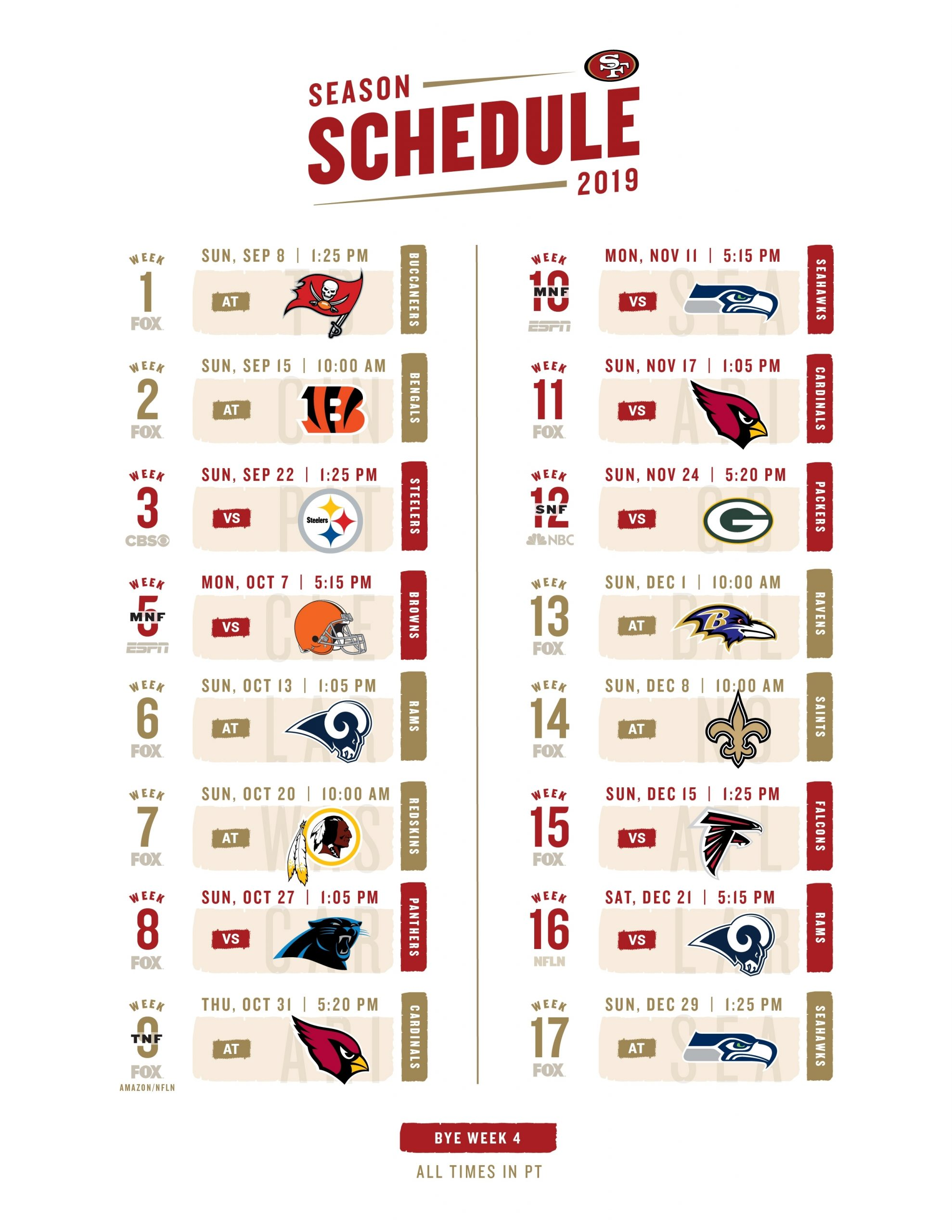 Click The Link Below For A Printable 2019 Schedule within Printable 2019 2020 Nfl Schedule