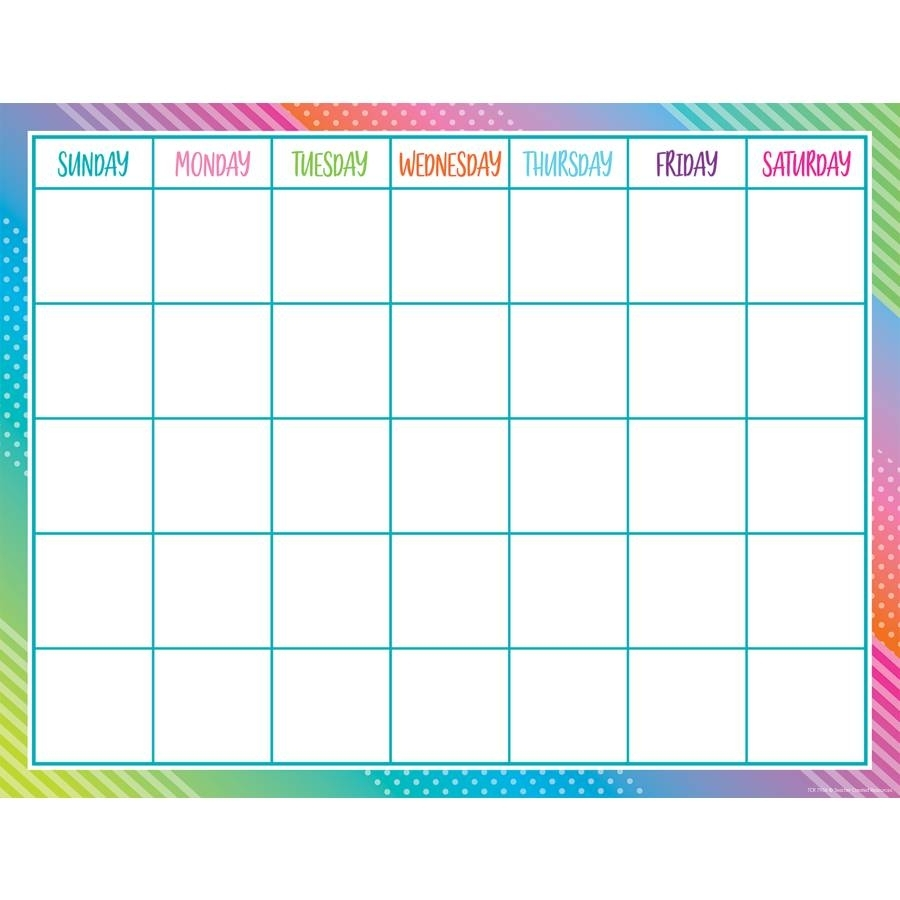 Colorful Vibes Calendar Chart
