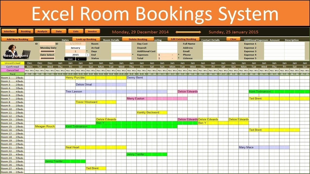 Conference Room Schedule Template Inspirational Excel Room