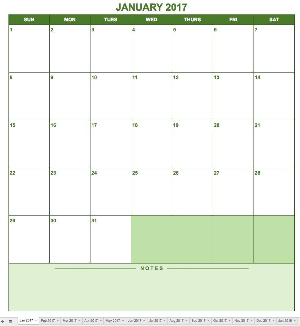 Creating A Calendar In Google Docs Is As Easy As Downloading for Google 2020 Calendar Template Editable