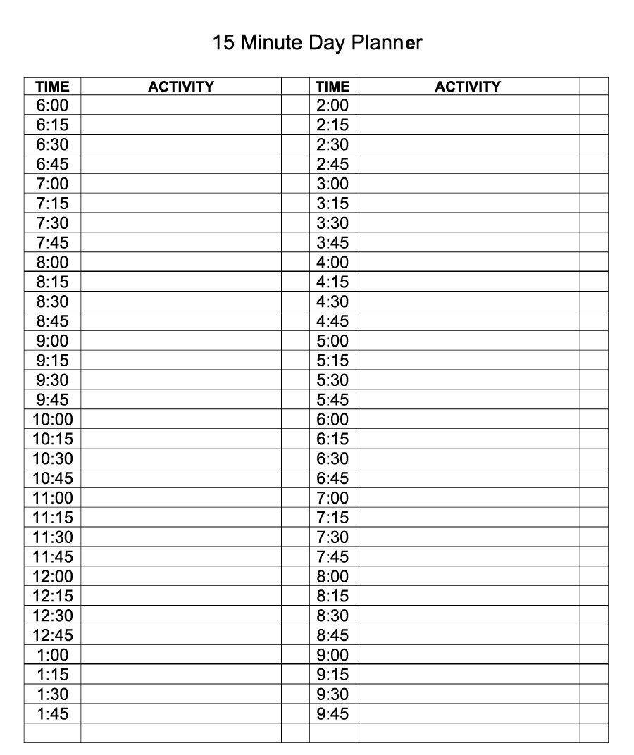 Daily Calendar Template Editable Planner | Daily Calendar
