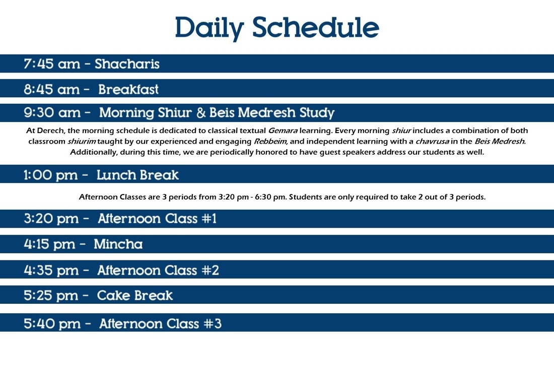 Daily Schedule - Derech