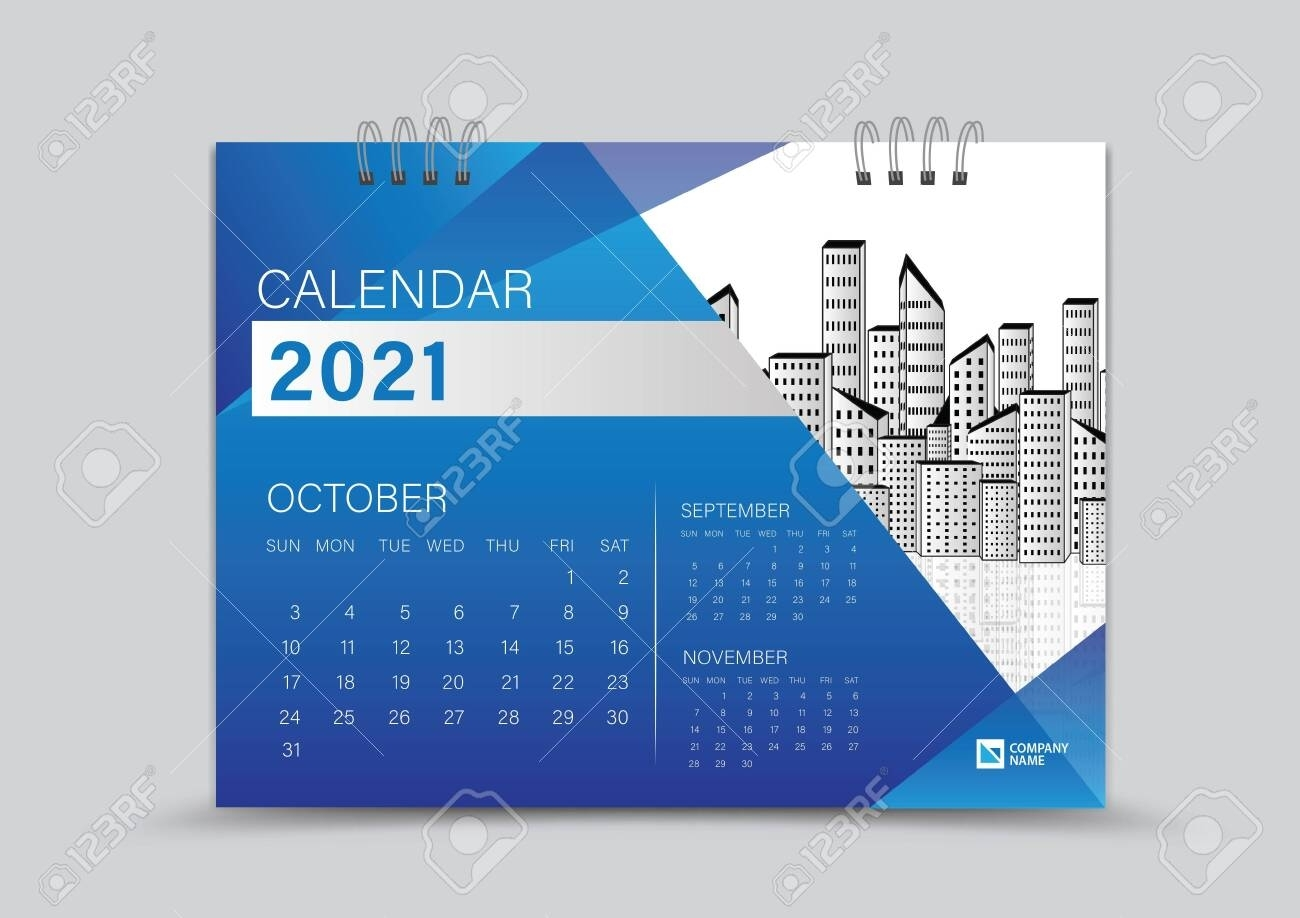 Desk Calendar 2021 Creative Design Can Be Place Photo And Logo,..