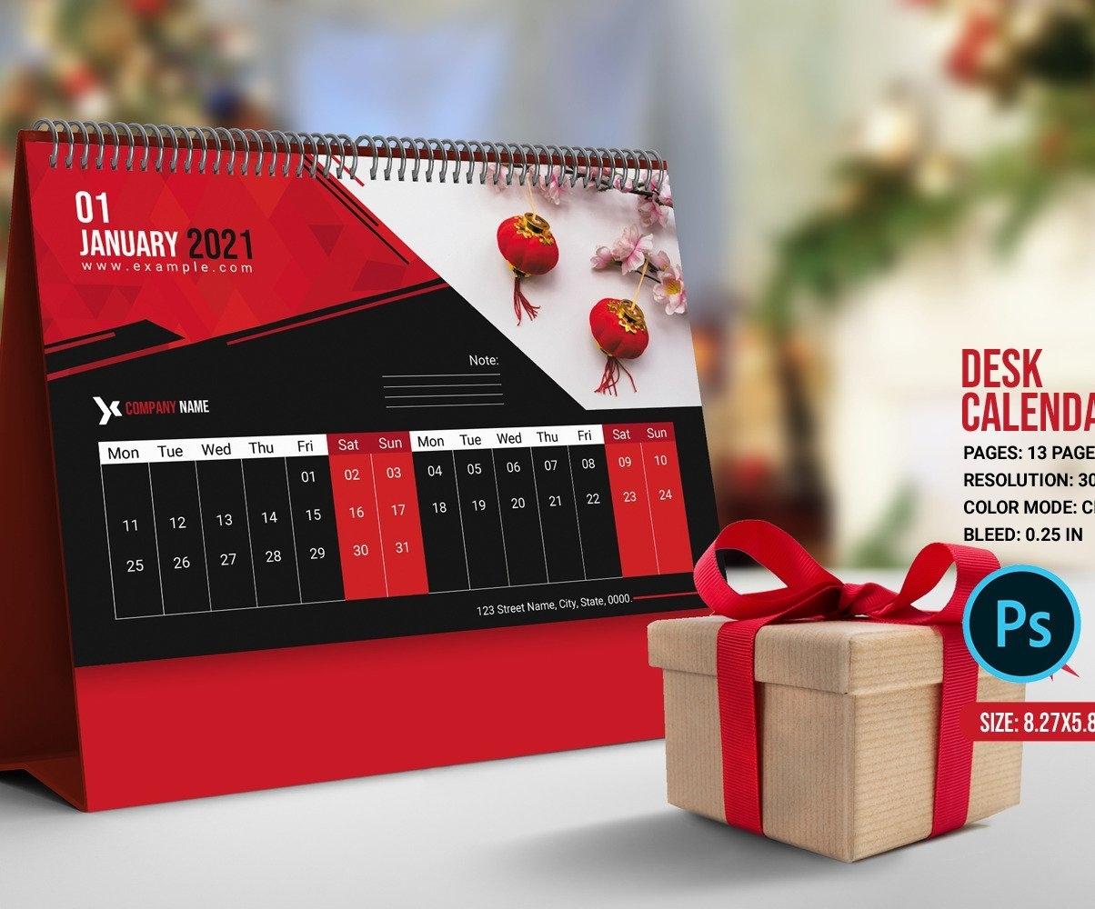 Desk Calendar Template 2021 Planner