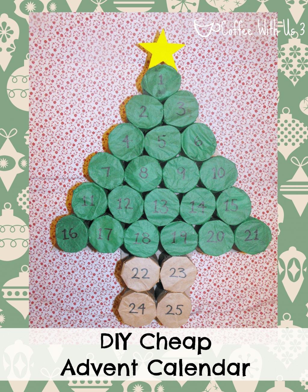 Diy Cheap Advent Calendar | Coffee With Us 3