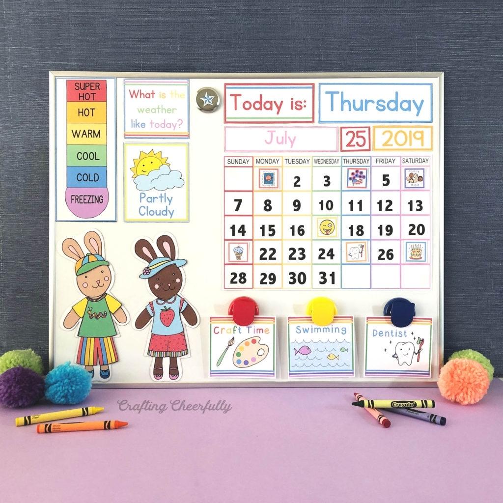 Diy Children'S Calendar. How To Create A Handmade Calendar with How To Make A Children Church Year Calendar