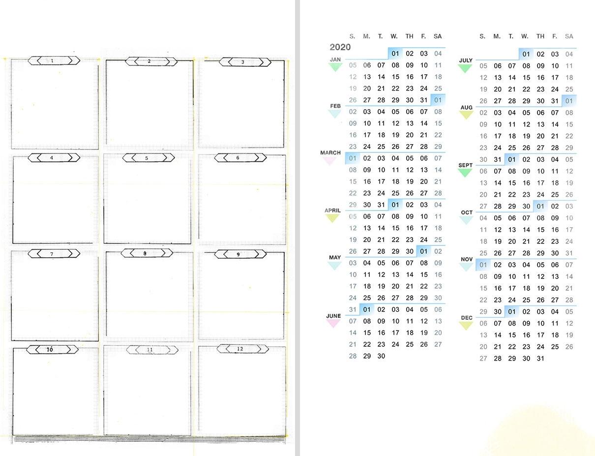 Diy Planner Archives ⋆ Amanda Hawkins | Ahhh Designamanda pertaining to Year At A Glance Calendar 2020 8.5 X 11