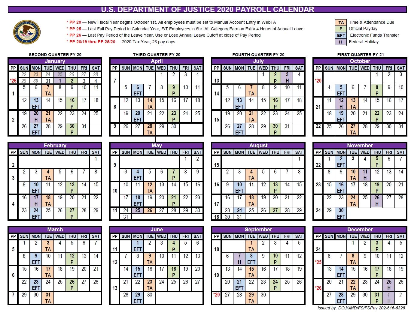 Doj Payroll Calendar 2021 | Payroll Calendar