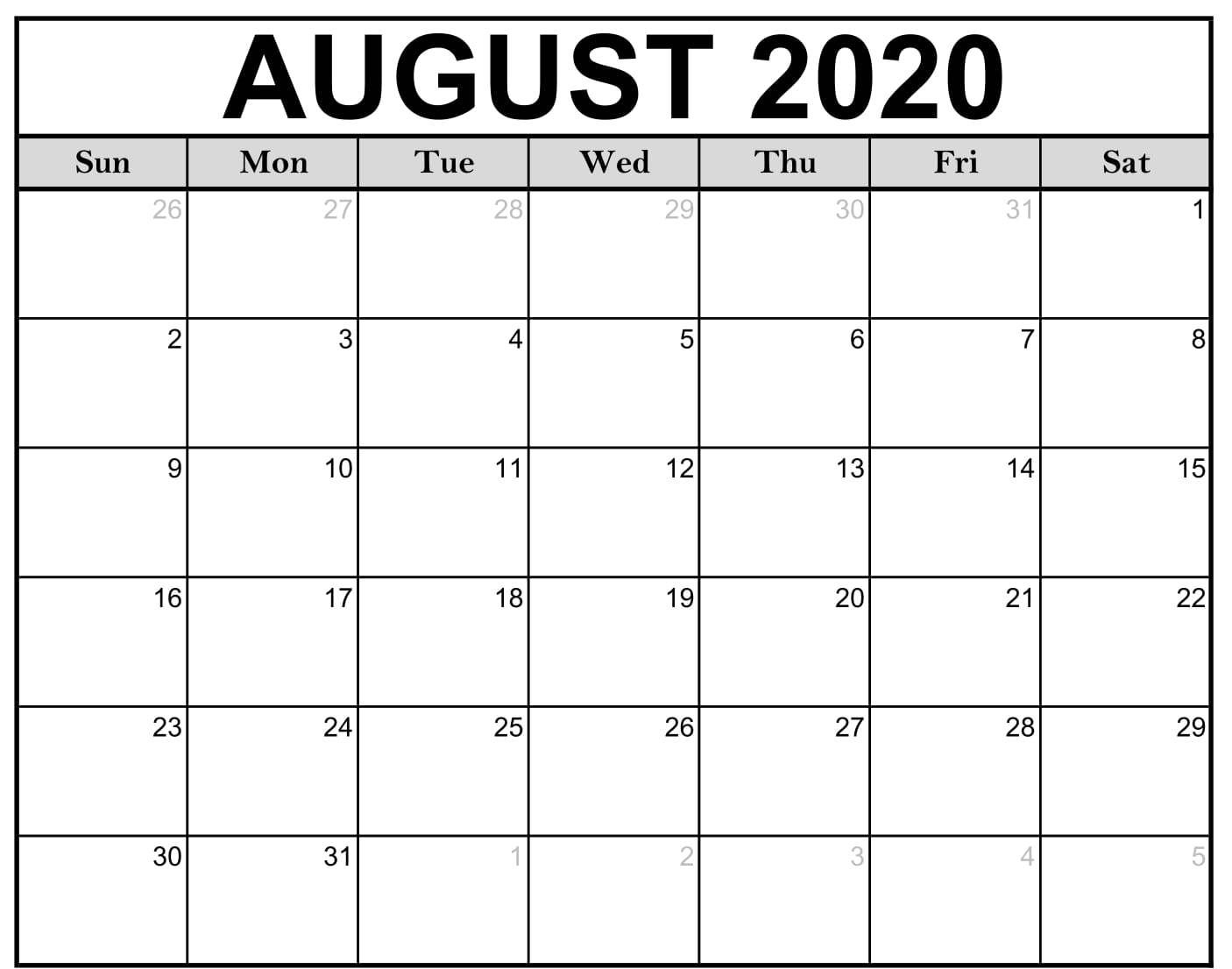 Download This Free 2020 Monthly Printable Calendar With A for Individual Monthly Printable Calendars For 2020 And 2021