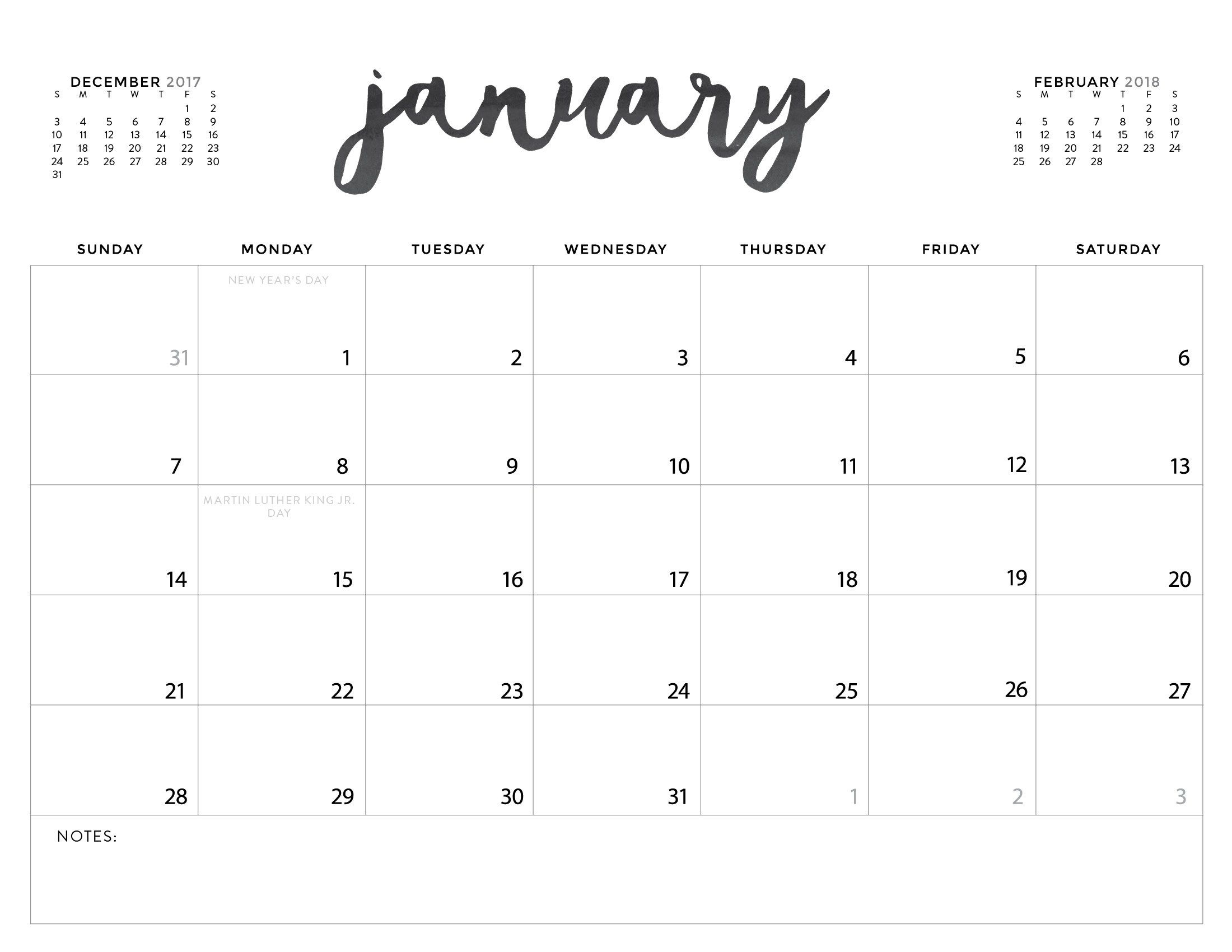 Download Your Free 2018 Printable Calendars Today! 28 within 2020 Calendar Free Printable Imom