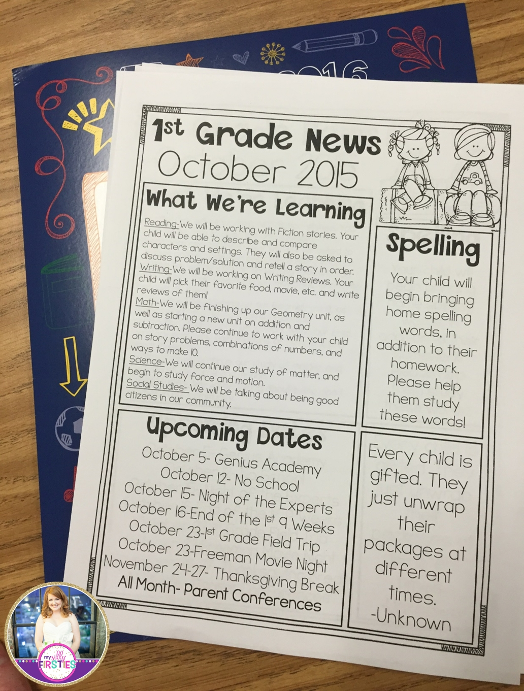Editable Class Newsletters. You Can Move The Boxes Around