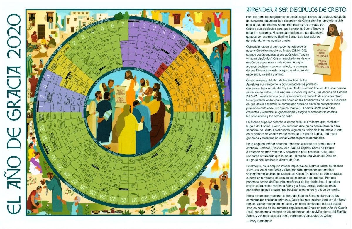El Año De Gracia: El Año De Gracia 2020, Small Laminated inside The Year 2020 Liturgical Calendar