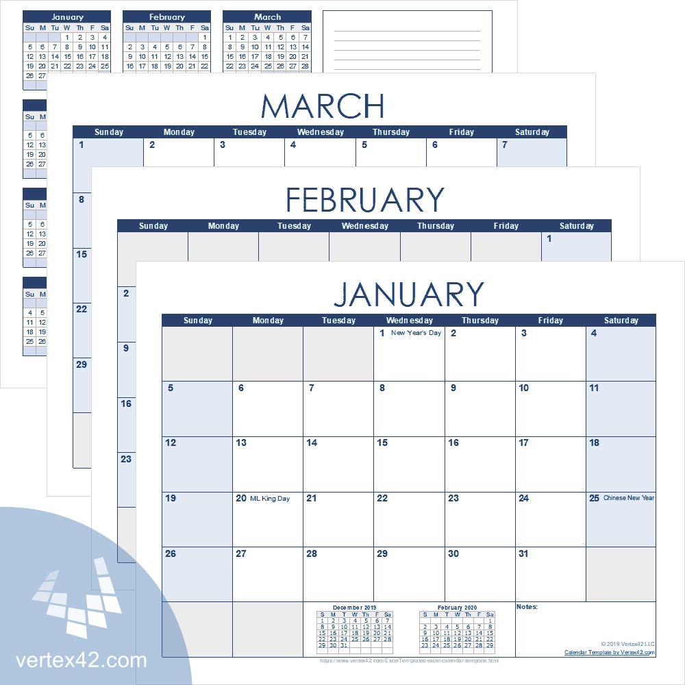 Excel Calendar Template For 2020 And Beyond throughout 5 Days Event Calendar Template