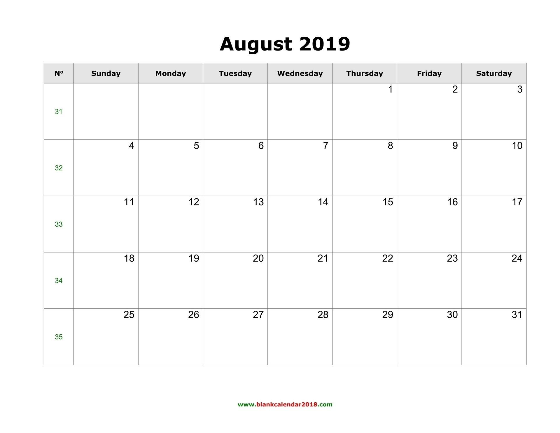 Exceptional Free Blank Calendar Printable Weekly No Download