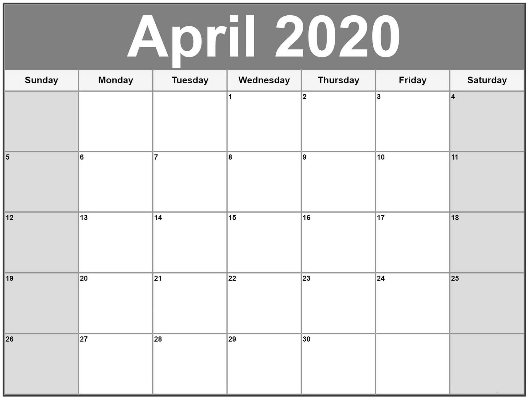 Exceptional Free Very Large Squares Blank Printable Calendar inside Large Numbers Free Printable Calendar 2020