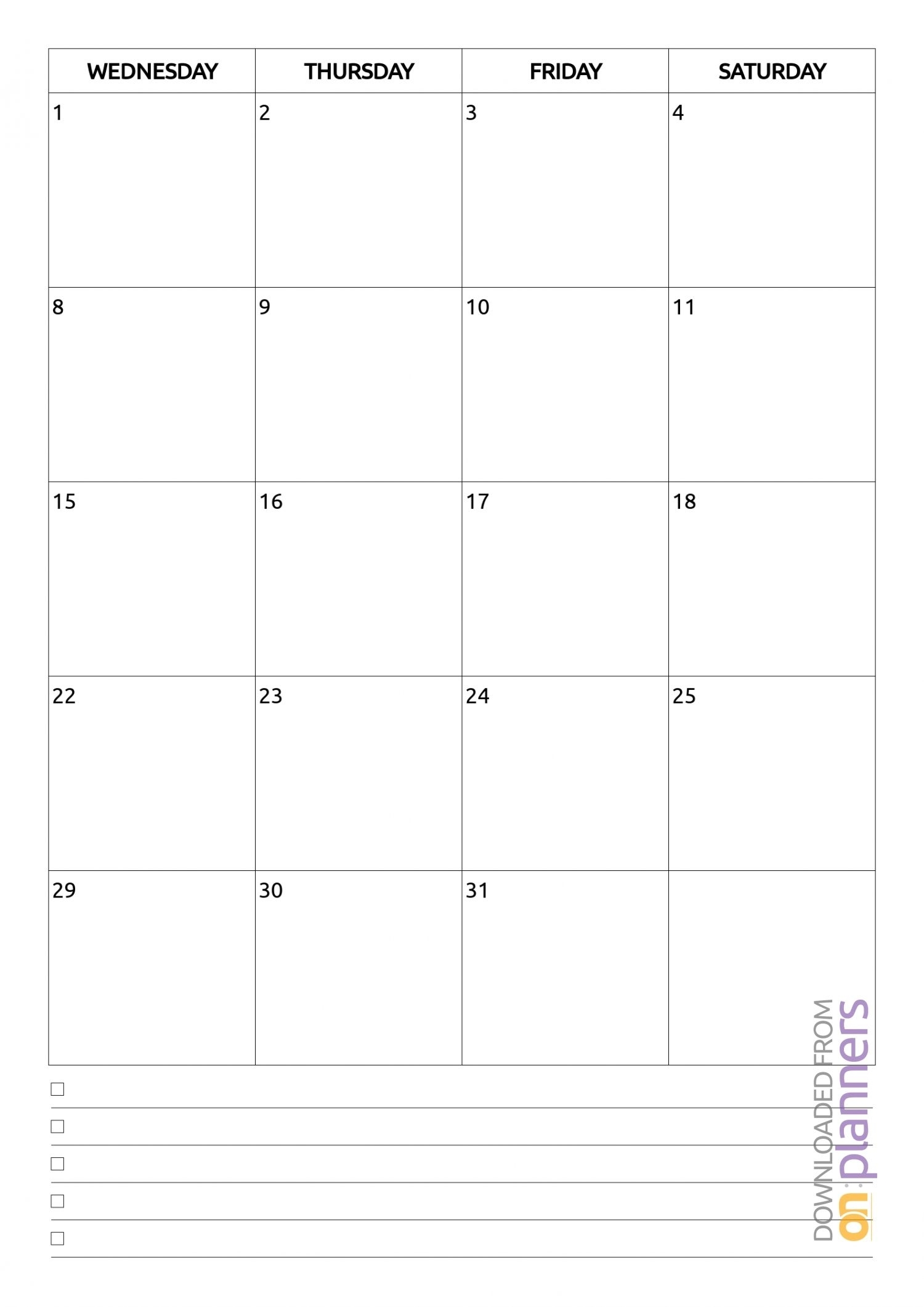 Exceptional Month At A Glance Blank Template In 2020