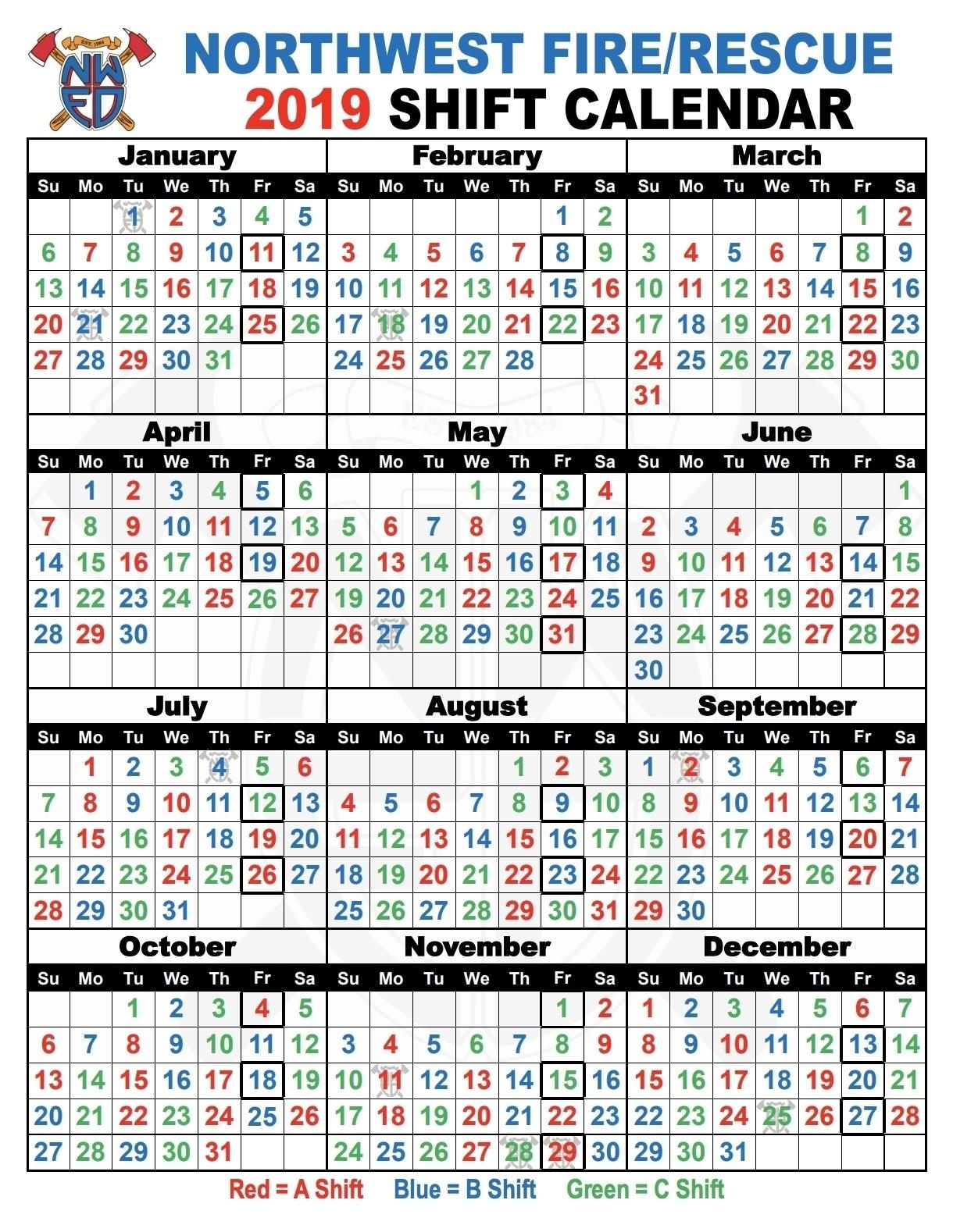 Fire Dept Shift Calendar 24/48 - Calendar Inspiration Design inside Firefighter 24 48 Shift 2020 Calendar