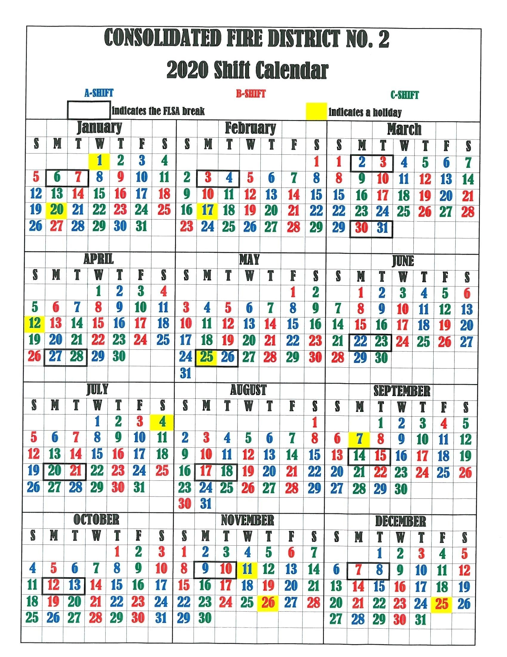 Fire Dept Shift Calendar 24/48 - Calendar Inspiration Design intended for Firefighter 24 48 Shift 2020 Calendar